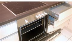 Einbauküche Nobilia Ausstellungsküche Küche in Cafe Latte Eiche Graphit E-GeräteEinbauküche Nobilia