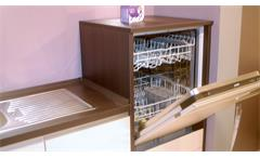 Einbauküche Nobilia Ausstellungsküche Küche in Cafe Latte Eiche Graphit E-Geräte