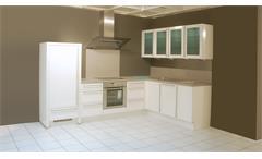 Einbauküche Nobilia Ausstellungsküche weiß Hochglanz Granit E-Geräte