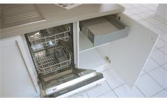 Einbauküche Nobilia Ausstellungsküche Küche in weiß Hochglanz Granit mit E-Geräte