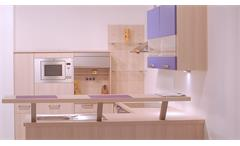 Einbauküche Nobilia Ausstellungsküche Küche in Platinesche und beere mit E-Geräte