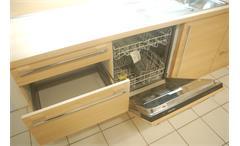 Einbauküche Nobilia Ausstellungsküche Küche in Ulme und braun mit E-Geräte
