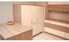 Einbauküche Nobilia Ausstellungsküche Küche Splinteiche magnolia matt E-Geräte
