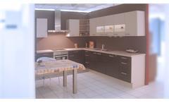 Einbauküche Nobilia Ausstellungsküche Splinteiche Cafe Latte E-Geräte