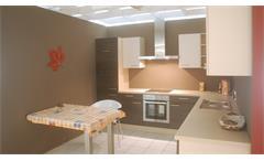 Einbauküche Nobilia Ausstellungsküche Küche Splinteiche Cafe Latte mit E-GeräteEinbauküche Nobilia A