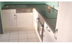 Einbauküche Nobilia Ausstellungsküche Küche in magnolia soft matt mit E-Geräte