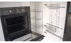 Einbauküche Nobilia Ausstellungsküche Küche anthrazit Hochglanz weiß mit E-Geräte