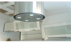 Einbauküche Nobilia Ausstellungsküche Küche in magnolia Hochglanz mit E-Geräte