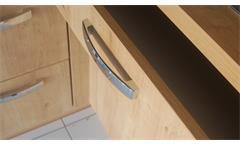 Einbauküche Nobilia Ausstellungsküche Küche in schwarz Hochglanz Eiche E-Geräte