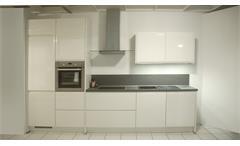 Einbauküche Nobilia Ausstellungsküche weiß Hochglanz E-Geräte
