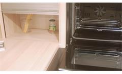 Einbauküche Nobilia Ausstellungsküche Küche in Lava und  Platinesche mit E-Geräte