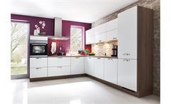 Nobilia Einbauküche, L-Küche inkl. E-Geräte & Geschirrspüler - 543