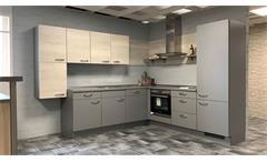 Einbauküche NOBILIA Ausstellung Eiche grau mit E-Geräte