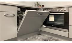 Einbauküche Nobilia Ausstellungsküche Küche in Eiche und grau inkl. E-Geräte