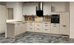 Einbauküche Nobilia Ausstellung Pinie grau mit E-Geräte