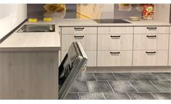 Einbauküche Nobilia Ausstellungsküche Küche in Pinie und grau inkl. E-Geräte