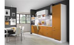 Nobilia Einbauküche Küchenzeile Küche inkl. E-Geräte mit Auswahlfarben 729