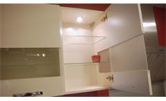 Einbauküche Nobilia Ausstellungsküche Küche crema Hochglanz braun mit E-Geräte
