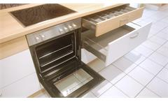 Einbauküche Nobilia Ausstellungsküche Küche L-Form in weiß matt mit E-Geräte