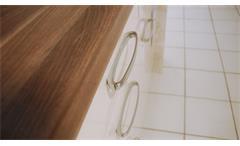 Einbauküche Nobilia Ausstellungsküche Küche L-Form magnolia Hochglanz E-Geräte