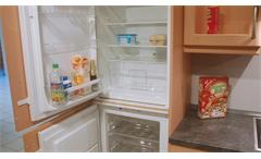 Einbauküche Nobilia Ausstellungsküche Küche L-Form Edelbuche mit E-Geräte