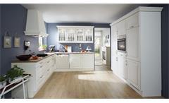 Einbauküche Nobilia Küche L-Küche inkl. E-Geräte Landhausstil mit Auswahl 255
