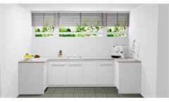 Nobilia Einbauküche XL Schränke Büroküche Lack weiß Beton grau