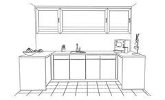 Nobilia Einbauküche XL Schränke Pantry Büroküche Lack weiß Beton grau