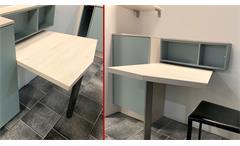 Einbauküche Nobilia Ausstellungsküche Küche in Aqua 337 inklusive E-Geräte