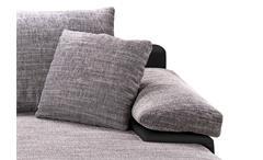 Ecksofa Bowie Wohnlandschaft grau schwarz inkl. RGB Beleuchtung und Bettfunktion