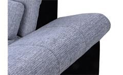 Ecksofa Anna Wohnlandschaft Sofa in schwarz grau Recamiere links 286x186 cm