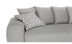 Ecksofa Summertime in Stoff grau inkl. Bettfunktion und Nosagfederung 297x215 cm