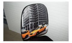 Drehstuhl Antara Bürostuhl Sitz Stoff schwarz Rücken Taxi Motiv inkl. Funktionen
