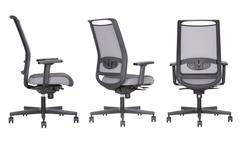 Design Bürostuhl Giulietta Drehstuhl Chefsessel in grau Mesh mit Funktion