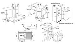 Einbaugeräteset 2 Küchen Elektrogeräte 6-teiliges Geräteset inkl. Geschirrspüler