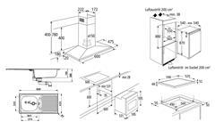 Einbaugeräteset 3 Küchen Elektrogeräte 6-teiliges Geräteset ohne Geschirrspüler