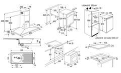 Einbaugeräteset 4 Küchen Elektrogeräte 7-teiliges Geräteset inkl. Geschirrspüler