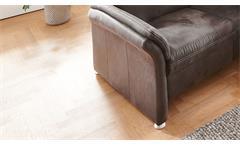 Relaxsofa Sofa 3-Sitzer Polstersofa Leila Microfaser anthrazit Kopfteilverstellung 220
