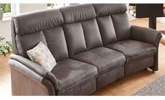 Sofa Garnitur Couch Set 2-teilig Polstermöbel Leila anthrazit mit Kopfteilverstellung