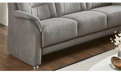 Sofa 3-Sitzer Polstersofa Couch Pedina in Microfaser Feeling grau 198 cm