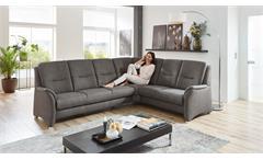 Ecksofa Wohnlandschaft Couch Polsterecke Doro Feeling anthrazit 273x221 cm