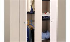 Kleiderschrank Smoozy 11 Schrank Drehtürenschrank in Kiefer weiß blau oder pink