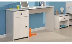 Schreibtisch Smoozy Computertisch in Kiefer weiß blau oder pink