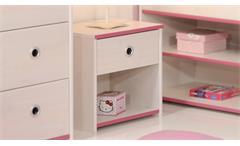 Nachtkommode Smoozy Nachttisch Nachtschrank Kiefer weiß Kinderzimmer blau pink