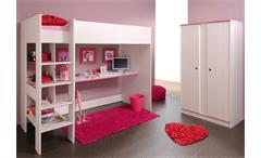 Kinderzimmer Set Smoozy Jugendzimmer Etagenbett Kiefer weiß blau oder pink