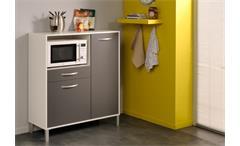 Küchenschrank OPTIBOX in weiß und grau 100 cm