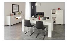 Highboard Ceram Vitrine Schrank in weiß Hochglanz für Wohn- und Esszimmer
