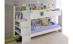 bett pocket einzelbett in perle wei dekor 140x200 cm. Black Bedroom Furniture Sets. Home Design Ideas