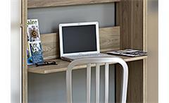 Schreibtisch Regal Kombination SOPHIA Eiche Dekor Arbeitszimmer