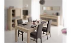 Esstisch CHRIS 16 Esszimmer Tisch Eiche Tischplatte in Steinoptik 180x89
